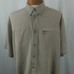 Cabela's Men's Short Sleeve Shirt Brown Plaid XL